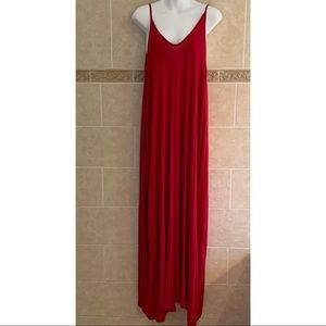 Love In Red Maxi dress with pockets